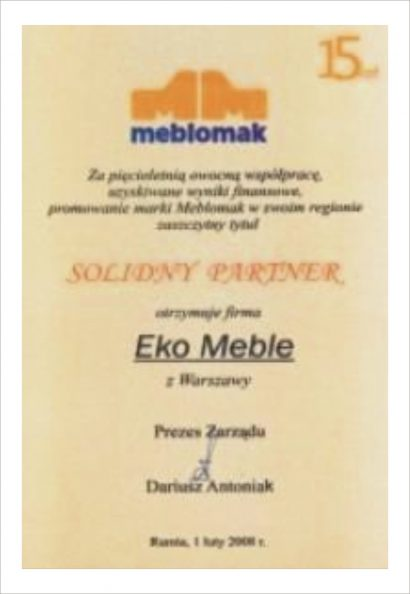 Solidny Partner - Meble Meblomak
